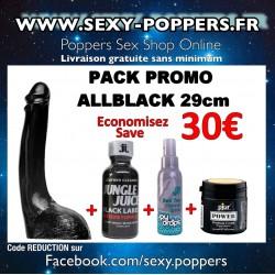 PACK PROMO ALLBLACK Dildo 29cm