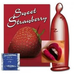 Strawberry condoms X 12