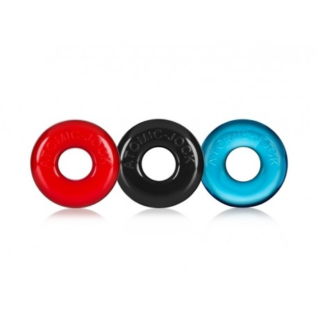 PACK of 3 COCKRINGS FLEX TPR BY OXBALLS