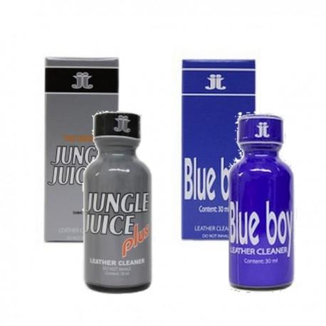 Lot 2 poppers  PLUS + BLUE BOY 30 ml